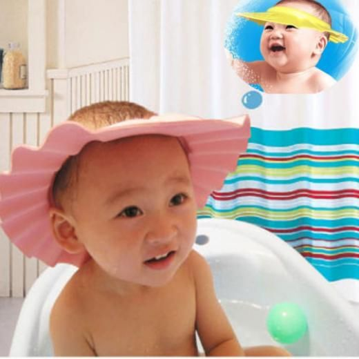 Adjustable Baby Kids Shampoo Bath Bathing Shower Cap Hat Wash Hair Shield CL