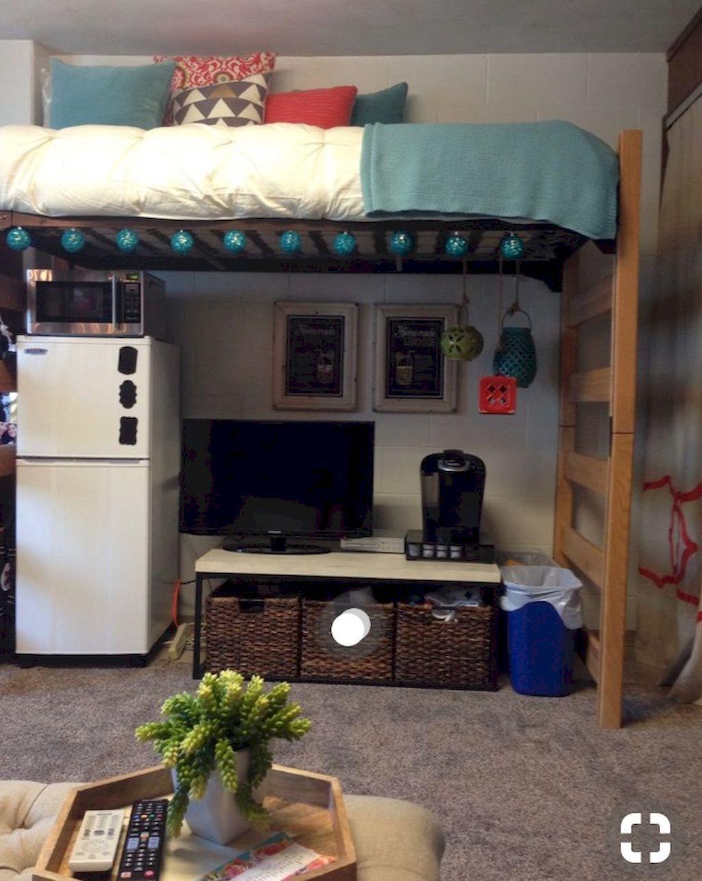 College loft bed ideas   Cute Loft Beds College Dorm Room Design Ideas For Girl  Dorm