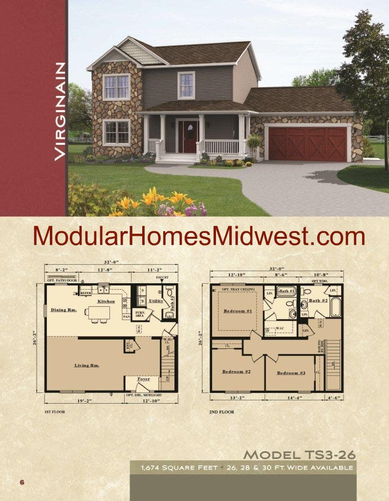 Two Story Colonial Modular Home Floor Plans Dream Home