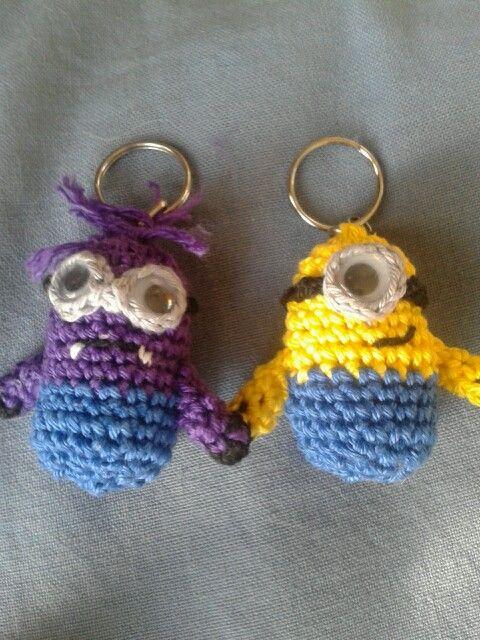 Minion Sleutelhanger Haken Zo Leuk Om Te Maken Crochet Minion