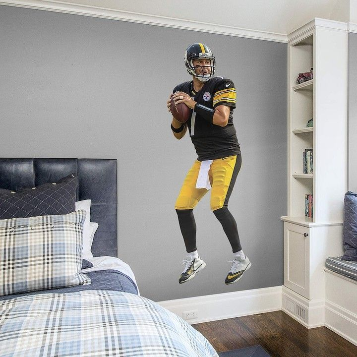Fathead Pittsburgh Steelers Ben Roethlisberger Wall Decal by & Fathead Pittsburgh Steelers Ben Roethlisberger Wall Decal by | Ben ...
