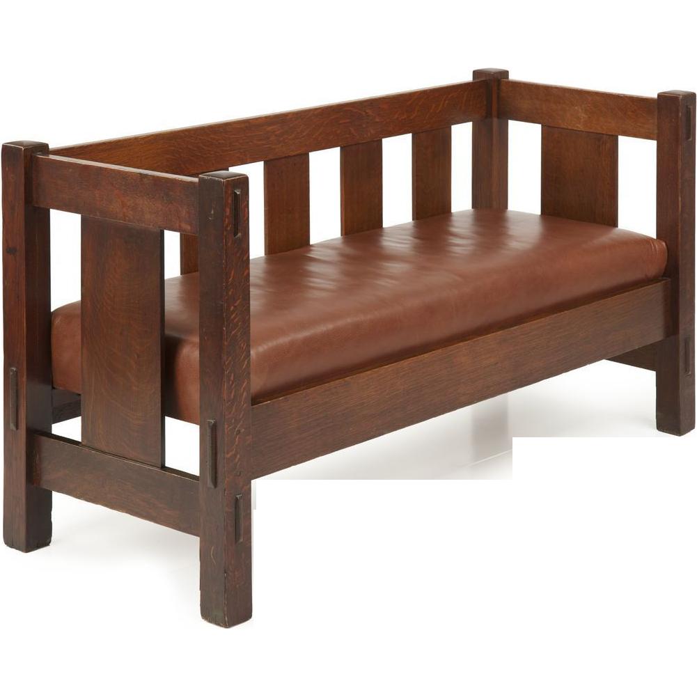 Gustav Stickley Mission Antique Settee Sofa Signed C 1905 12 Mission Style Furniture Stickley Furniture Craftsman Furniture