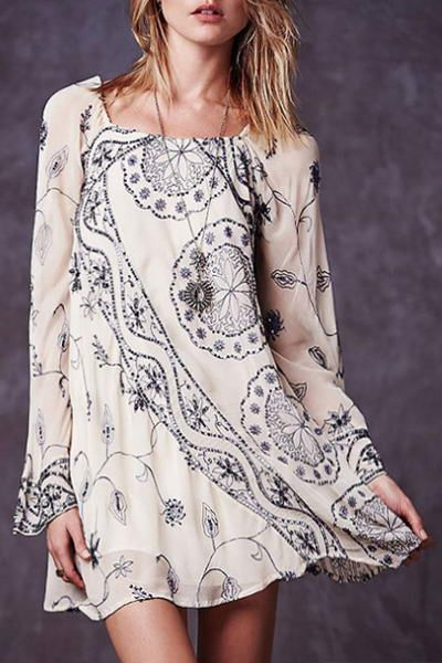 Boho Embroidered + Sequined Love