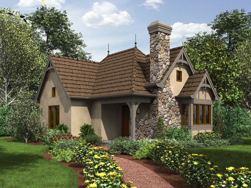One Bedroom Cottage House Plan Cottage Style House Plans Cottage House Plans Cottage Plan