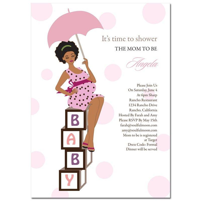 African American Baby Shower Invitations   Diva Blocks