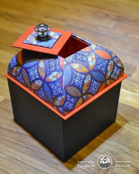 Chipboard Boxes For Crafting ~ Boîte mansart box chipboard and craft