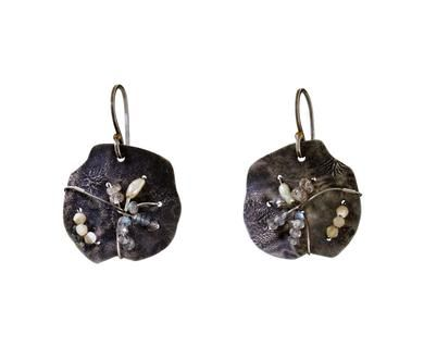Beth Orduna | Silver Disc Drop Earrings in Earrings Dangles at TWISTonline