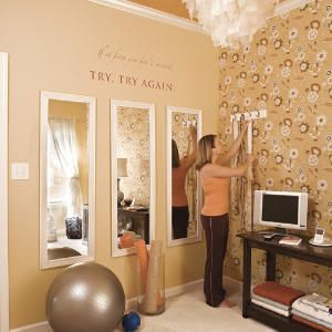 7 smallspace makeovers  home gym decor home gym design