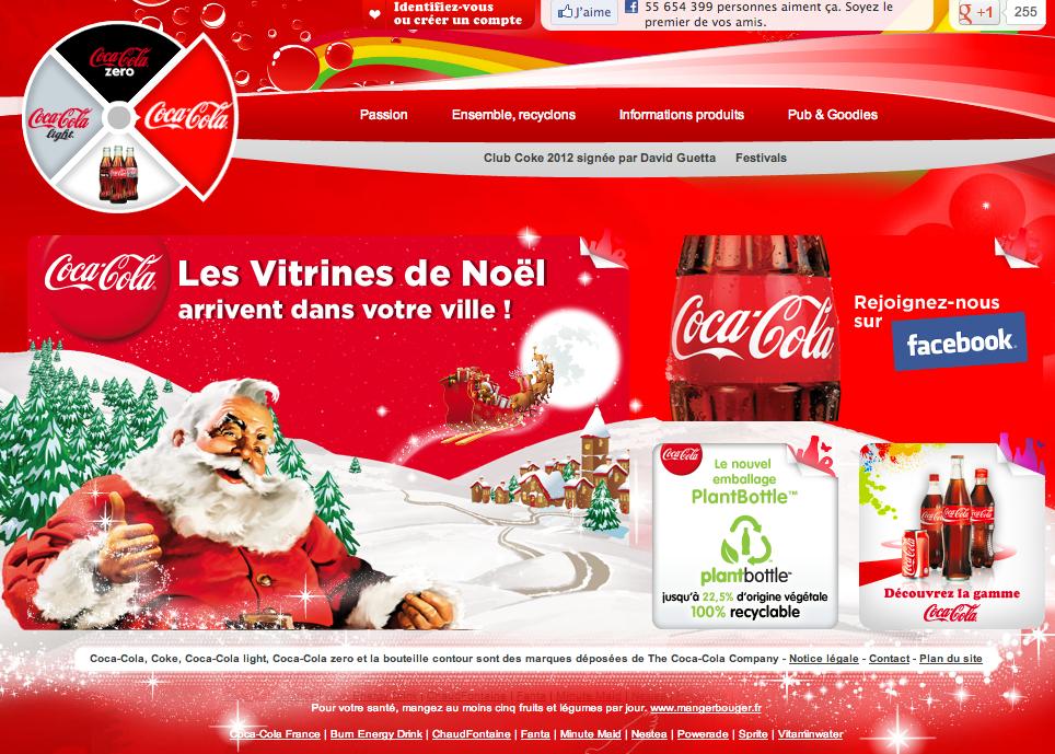 Le e-Marketing Coca en ces temps de fêtes