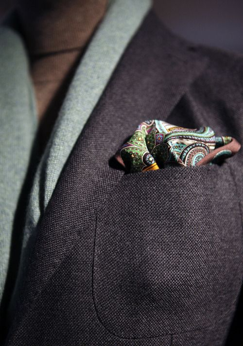 Like the paisley pocket square and can take any of the colors for the shirt and optional tie