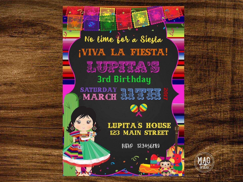 Invitacin Mexicana - Invitacin De Fiesta Mexicana -2142