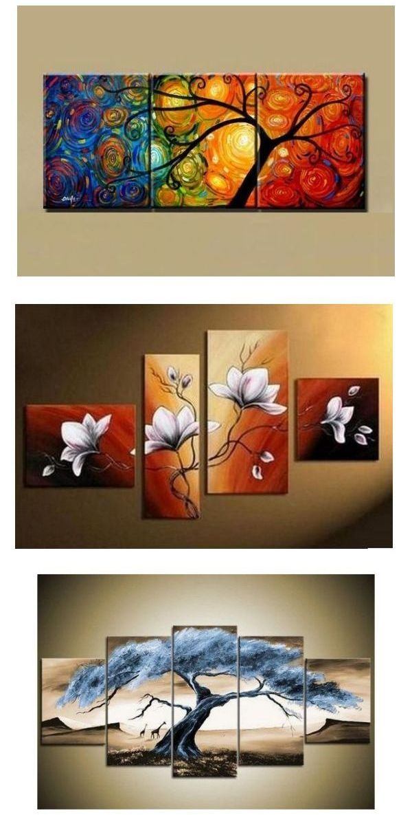 Canvas Painting Abstract Art Painting 3 Piece Canvas Art Tree Of Life Painting Large Group Painting 3 Piece Canvas Art Diy Canvas Art Abstract Art Painting