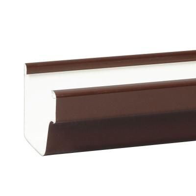 Amerimax Home Products 5 In X 10 Ft Brown Vinyl K Style Gutter M1573 The Home Depot Rain Gutters Gutters Vinyl Gutter
