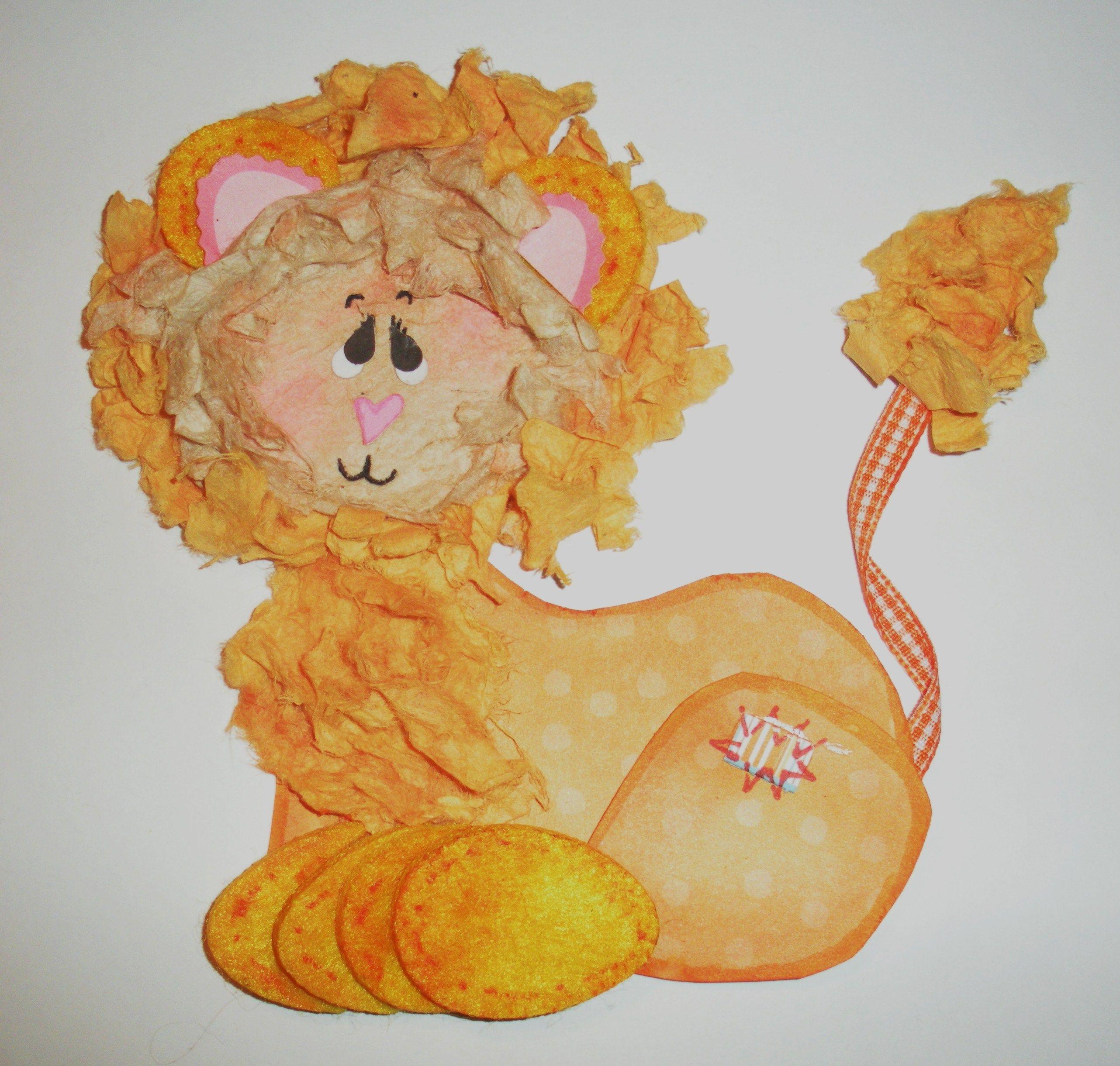 Scrapbook Lion