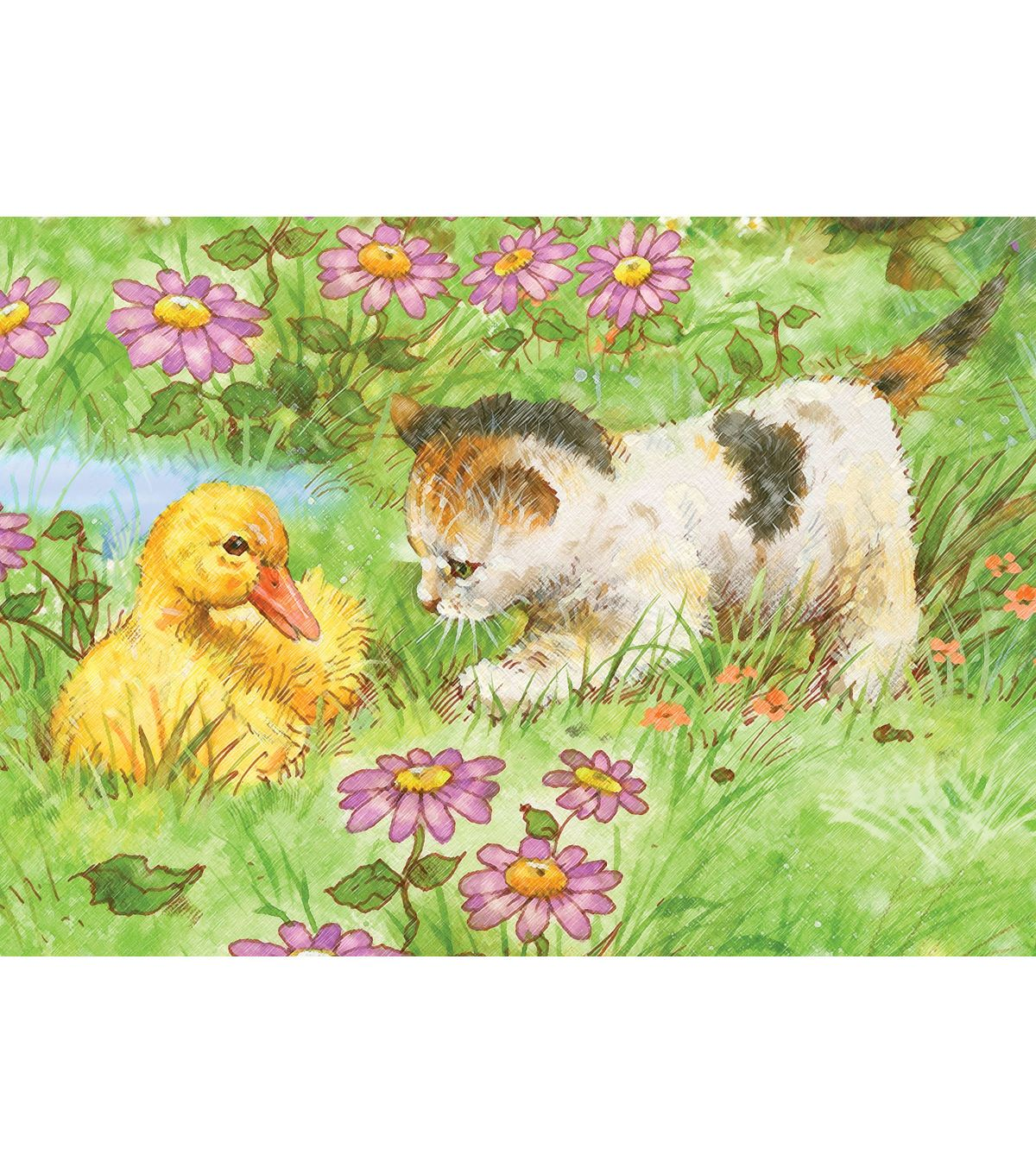 Royal Langnickel Mini Color Kitten & Duckling Pencil By Number Kit ...