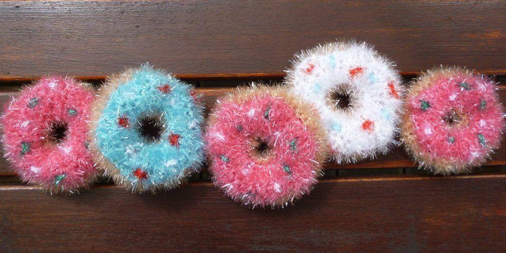 Gehäkelte Donuts Als Spül Oder Duschschwamm Spüli Pinterest