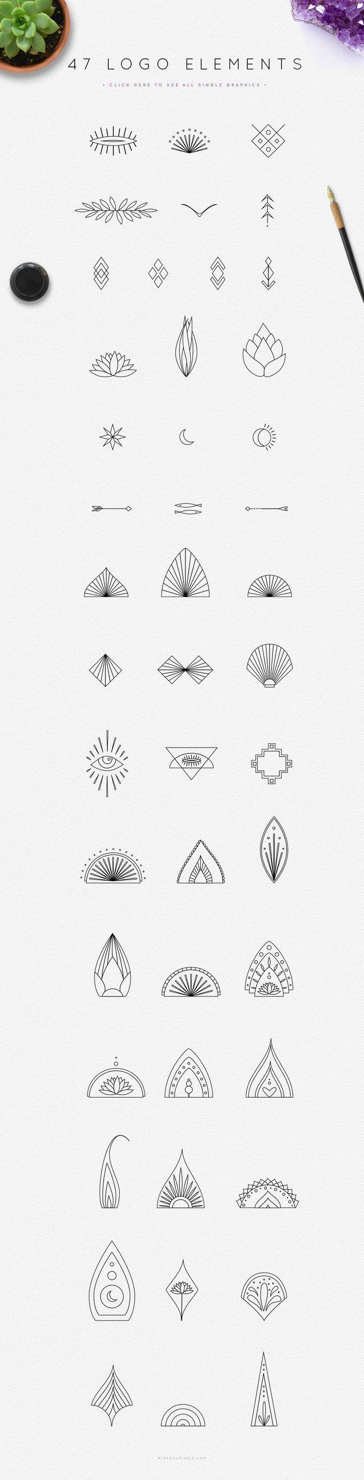 Little Graphic Designs Good For Any Tattoo Idea Simple Tattoo Mandala Kleine Tattoo Ideen Tattoo Ideen Kleines Tattoo