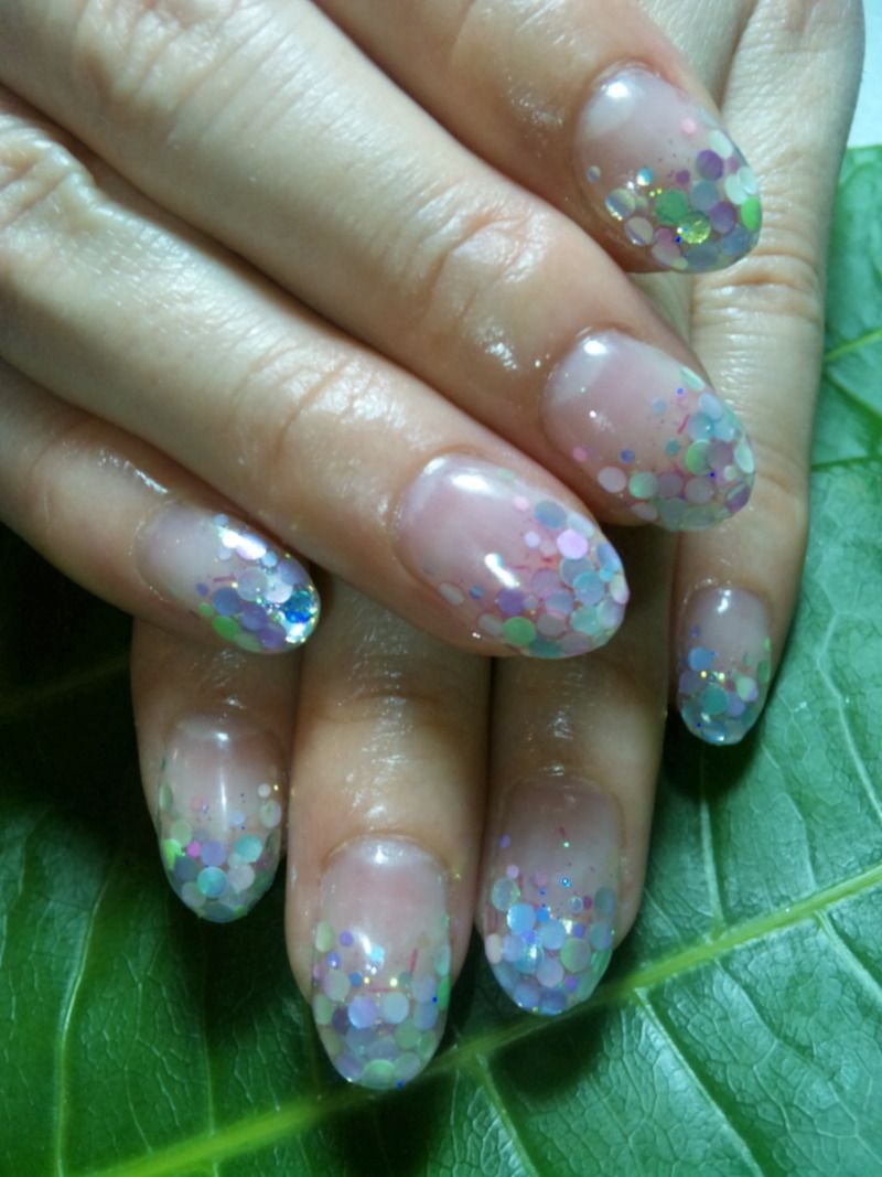 fish scale nails. I mean I like it but it also looks like a weird ...