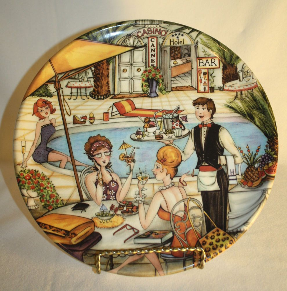 Vintage Decorative Wall Plate Casino Bistro Outdoor Cafe Made Italy ...