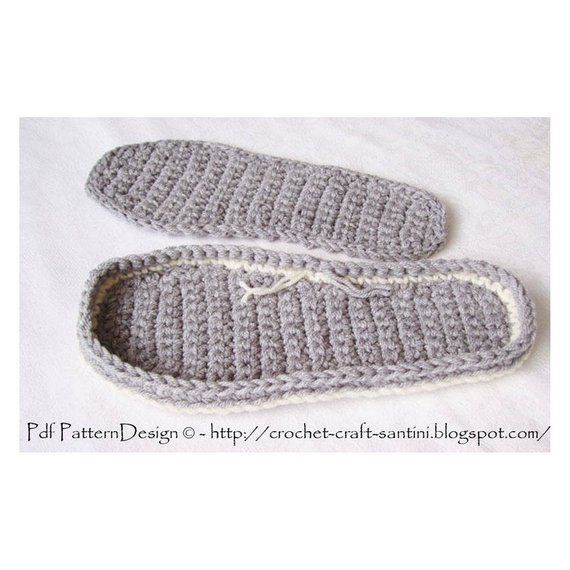 Photo of Crochet Outsoles with Foot-Shape – 4 standard sizes – Instant Download PDF