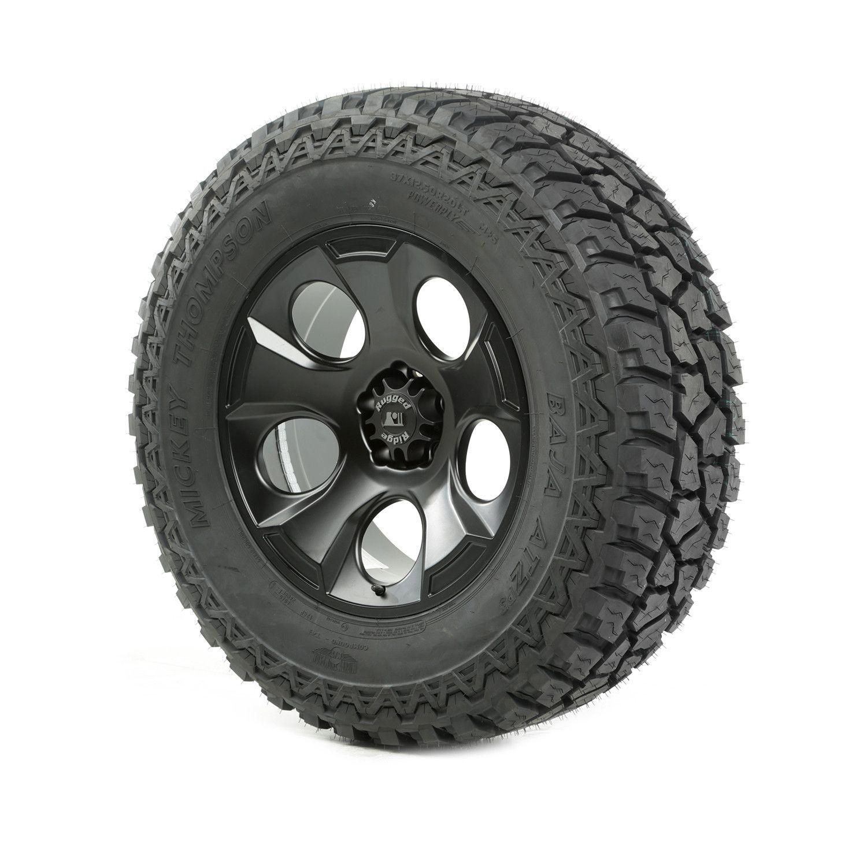 Wheel and tire drakon 20x9 black satin 37x12 50x20 atz p3