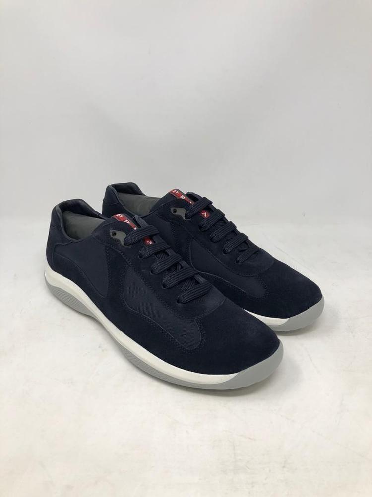 Prada America s Cup Calzature Uomo Blue Suede Designer Sneaker Men s Size 8  New  fashion   967e2cc92c4