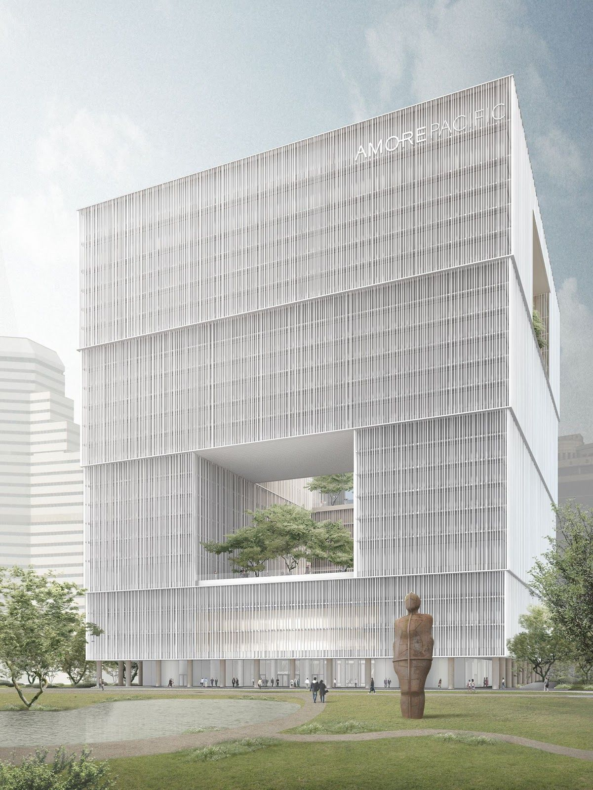 Amorepacific Headquarters Seoul David Chipperfield Architects Amorepacific Groundbreaking ceremony in Seoul for the Amorepacific