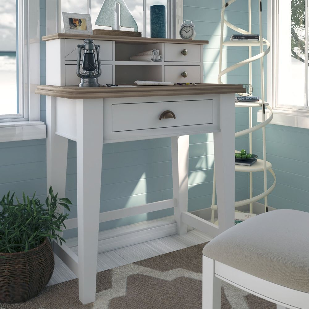 Wooden Writing Desk Computer Table White Office Furniture