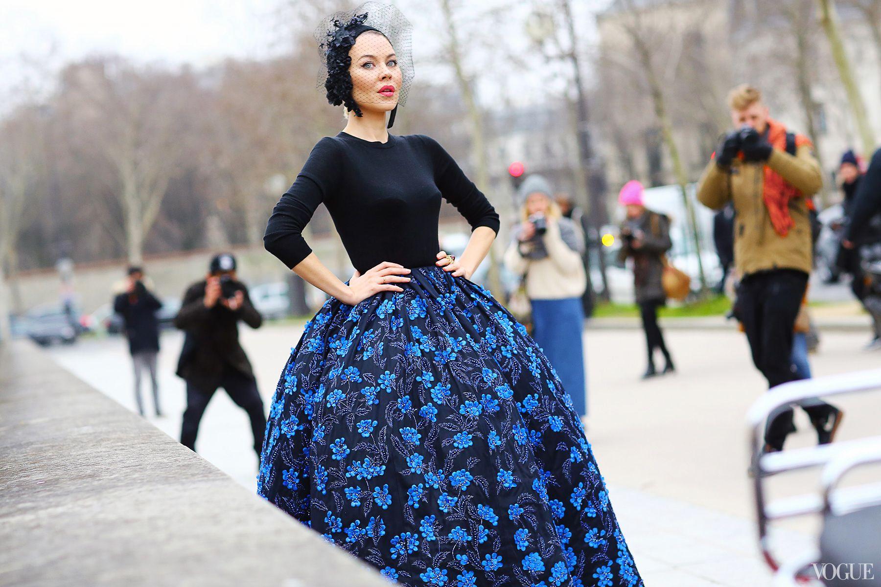 Ulyana Sergeenko  Christian Dior Couture dress