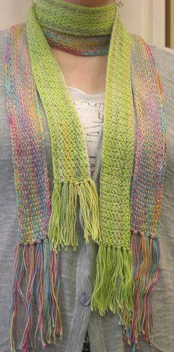 Skinny Summer Scarf Knit Version Pattern By Laura Rasmussen