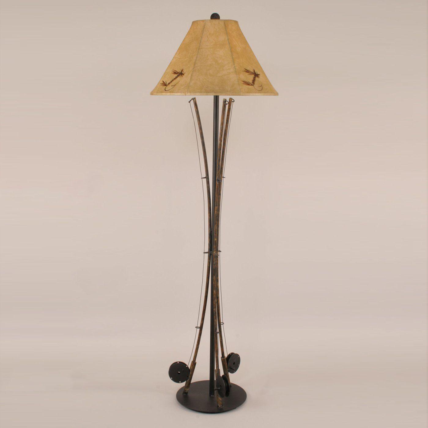 Coast Lamp Mfg R13a Iron Fishing Pole Floor Lamp Lighting Universe Ideas For Cathryn