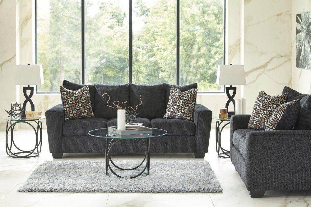 Wixon Slate Sofa Loveseat Living Room Sets Slate Sofa