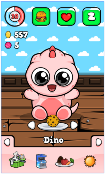 17 Best Tamagotchi Apps For Android Virtual Pet Animal Games Baby Dino
