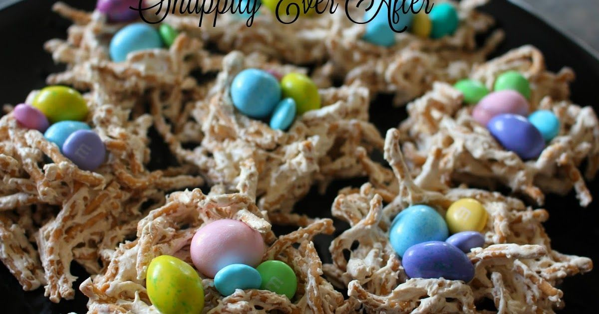 marshmallow bird nests with chow mein noodles | chow mein