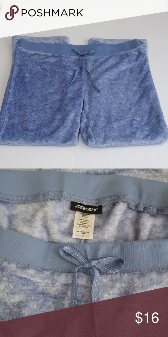 222035cb53 NWOT Plus-size Joe Boxer Plush Blue Pajama Bottoms Blue plush Joe Boxer  Pajama bottoms. Sooo soft. NWOT. Joe Boxer Intimates   Sleepwear Pajamas