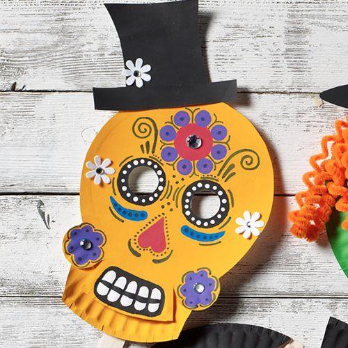 Sugar Skull Homemade Halloween Mask Crafts Pinterest Homemade