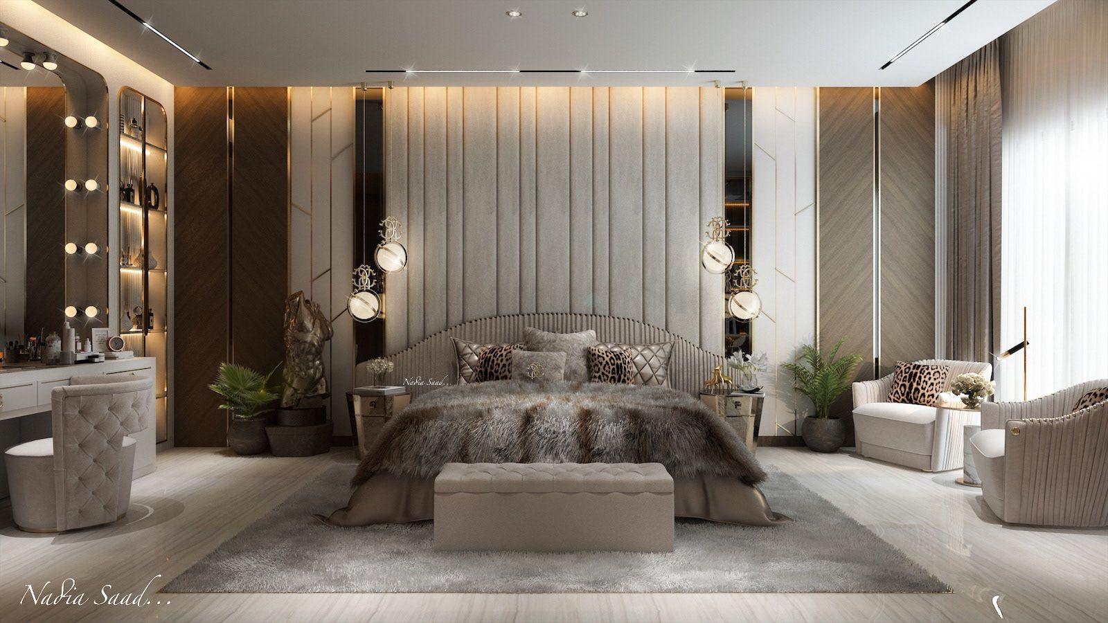 Master Bedroom Design In Ksa Private Villa On Behance Luxury Master Bedroom Design Master Bedroom Interior Design Luxury Bedroom Master Luxury master bedroom example