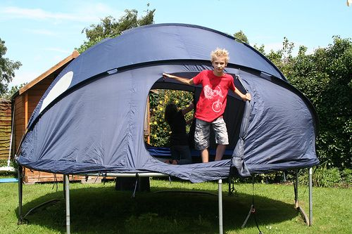 Or turn it into the ultimate tent for outdoor sleepovers. & backyard camping just went... awesome! The Trampoline tent ...