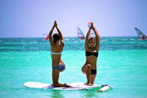 Aruba paddle board yoga...4 more weeks and I'm there ;)