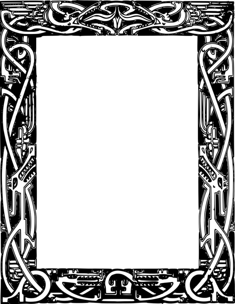 Dragon Border Clip Art Clipart | Business cards template | Pinterest ...
