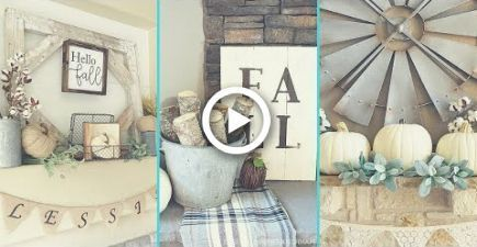 Newest Pics Fireplace Decor shabby chic Ideas Fireplace decorating is why is the fireplace among the home's most critical showcases. Fireplaces  #chic #Decor #Fireplace #ideas #Newest #Pics #shabby #fallmantledecor