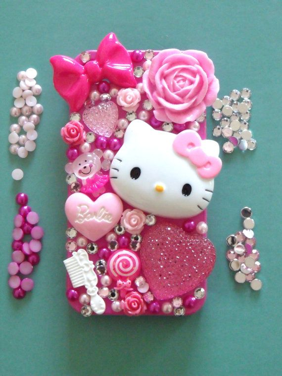 DIY 'Glitter and Gold' Hello Kitty Barbie Heart by BridieMeganRose, $15.75