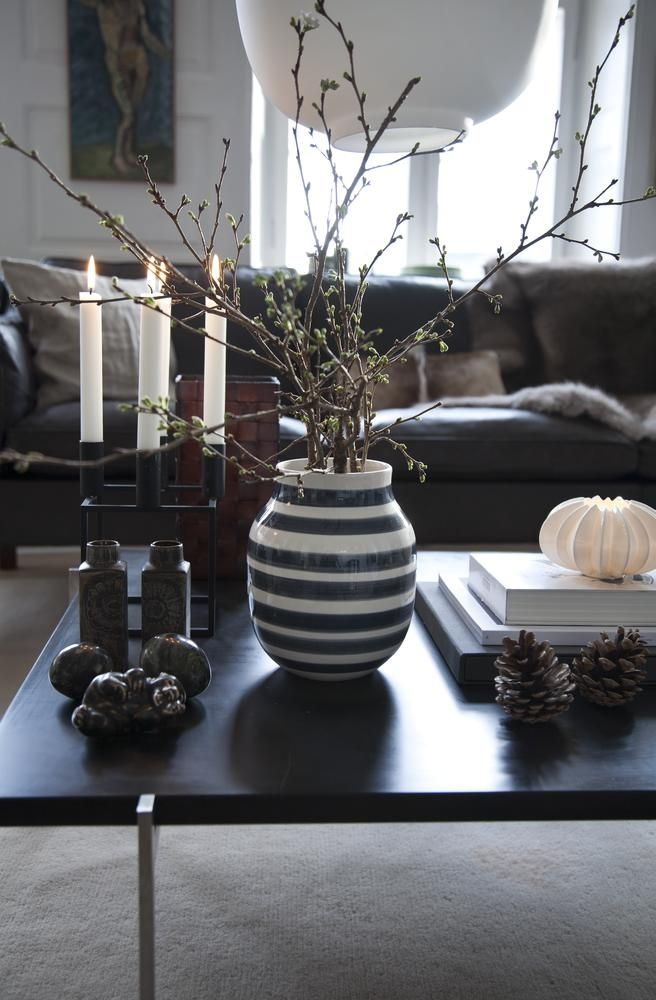Kähler - Omaggio vase H12,5 cm midnatsblå - blomster - planter