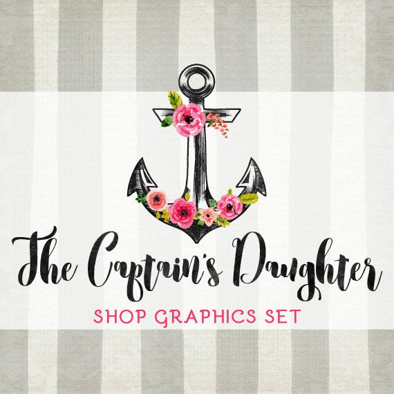 c591c41d762b3 Floral Anchor Shop Branding Banners, Avatar Icons, Business Card ...