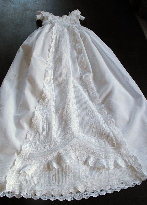 Vintage Victorian Christening Gown English By Vintagefrenchlinens