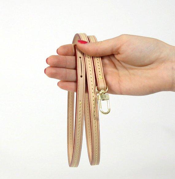 3e28b271058d Vachetta Leather Shoulder Strap Replacement For Louis Vuitton ...