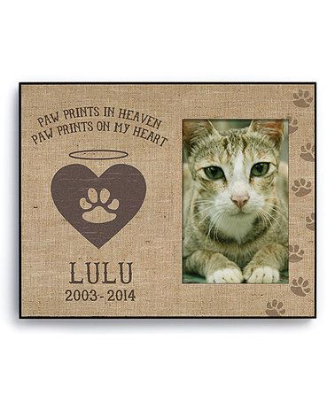 Another great find on #zulily! \'Paw Prints in Heaven\' Cat ...