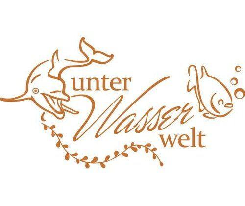 Unterwasserwelt, Fish Wall Sticker East Urban Home Colour: Hazel, Size: 110 cm H x 205 cm W