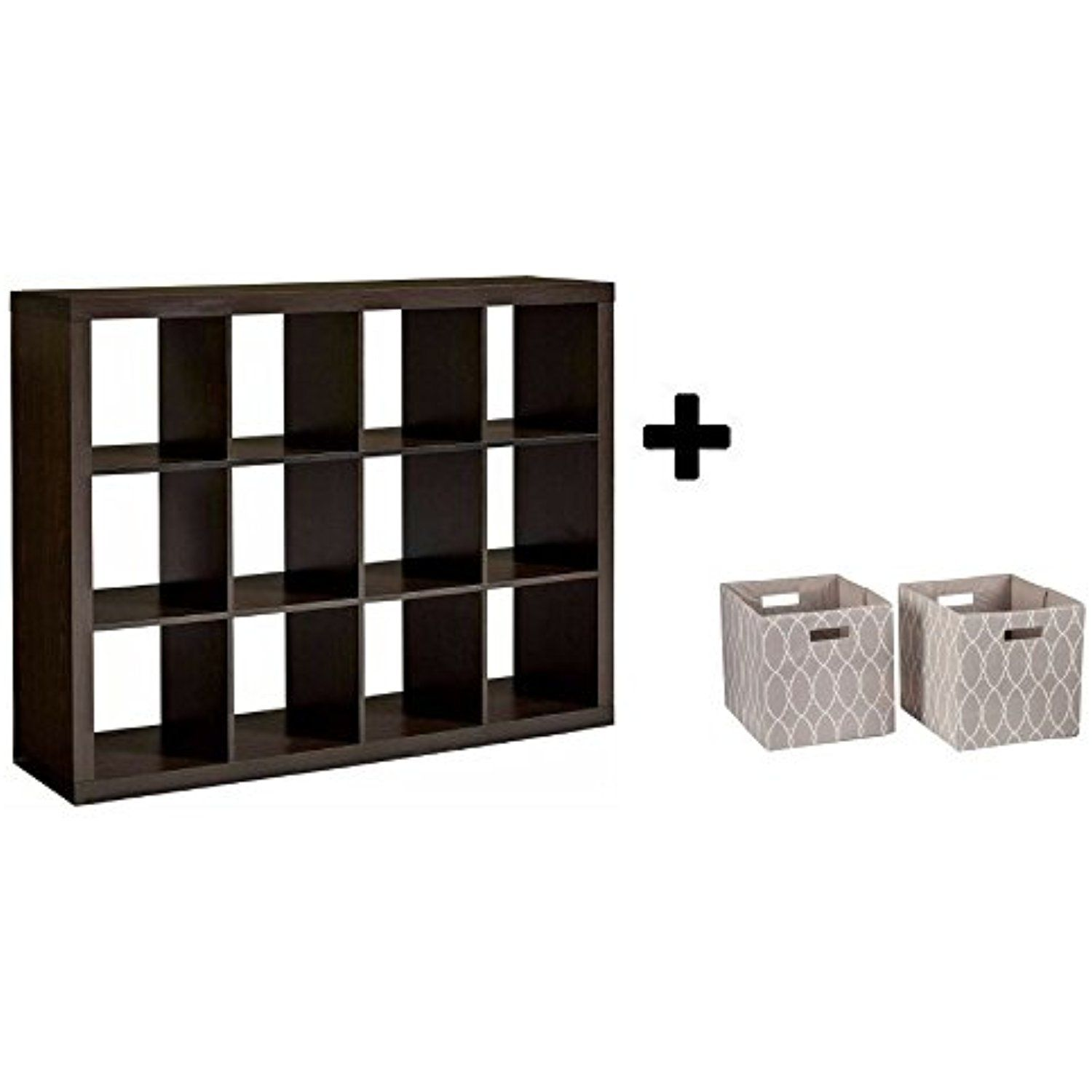 Better Homes And Gardens 12 Cube Organizer, Espresso With Open