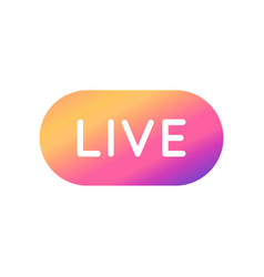 Live Video Streaming Button With Colorful Instagram Logo Social Media Icons Vector Instagram